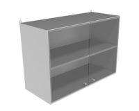 Шкаф навесной со стекл.дверцами НВ-800 НШс (800*350*550)