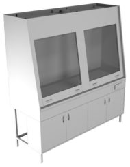 Вытяжной шкаф двухрамный НВ-1500 ШВд-Б (1410*700*1960)